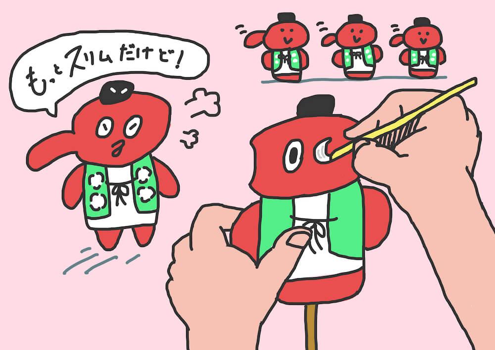 浜松天狗張子の製作画像